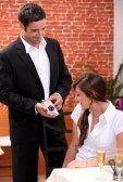 Man giving lady gift